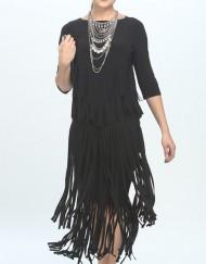 ICC Fringe Skirt - Critique' Boutique